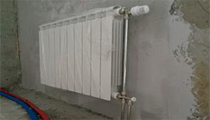 Система подключения Рехау с терморегулятором,радиатор глобал